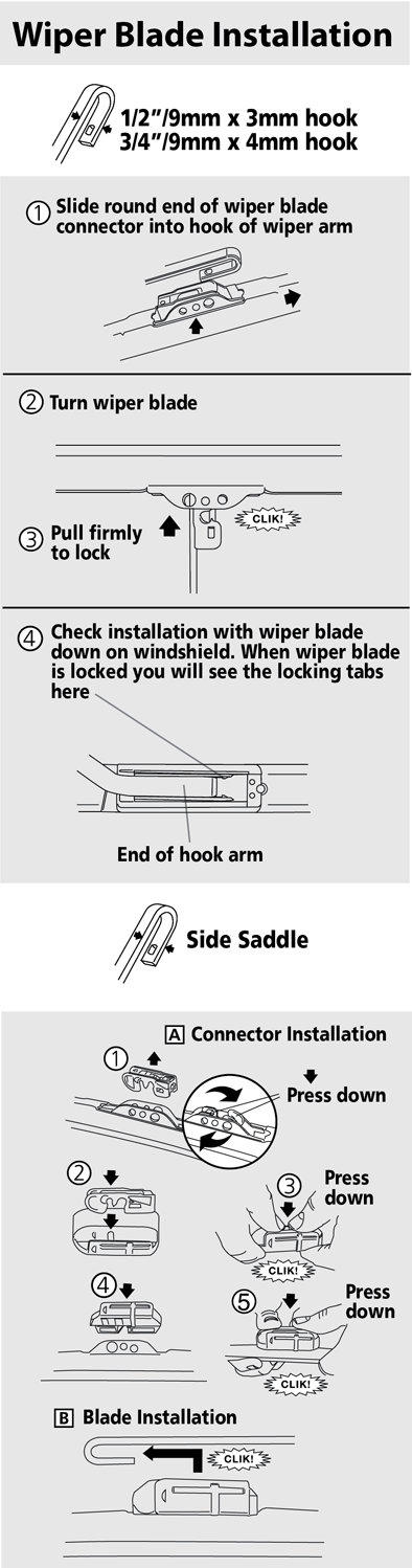 How Do I Install A Hook Arm Style Wiper Blade