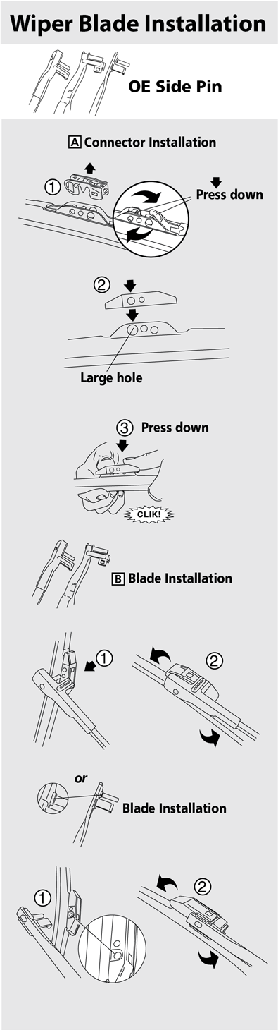 How Do I Install A Side Pin Arm Style Wiper Blade On My Vehicle
