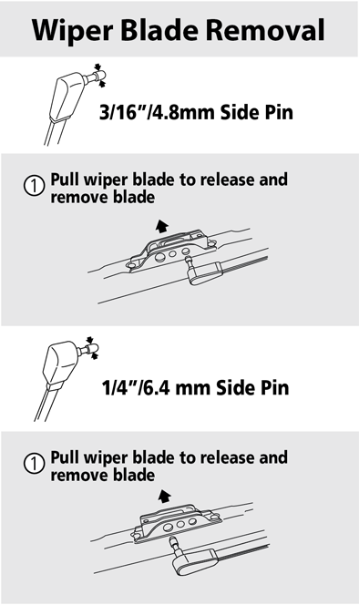 How Do I Remove A   Side Pin Arm Style Wiper Blade